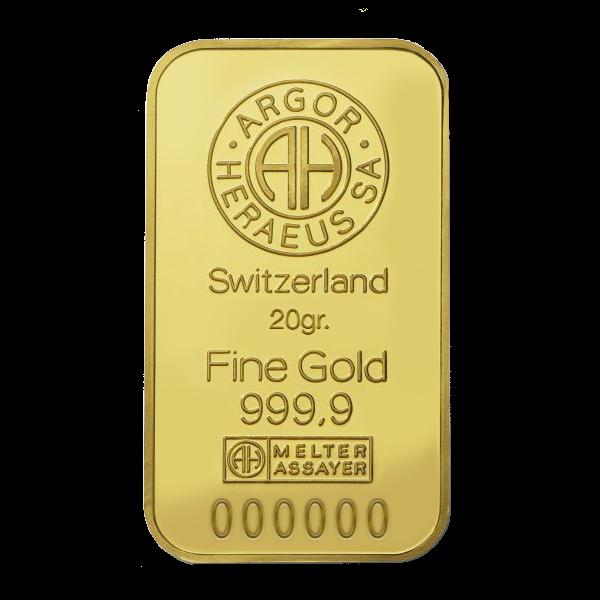 lingotto oro da 20 grammi per investimento o regalo